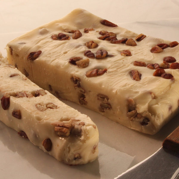 Allen Family Fudge - Smooth and buttery fudge full of fresh pecan pieces